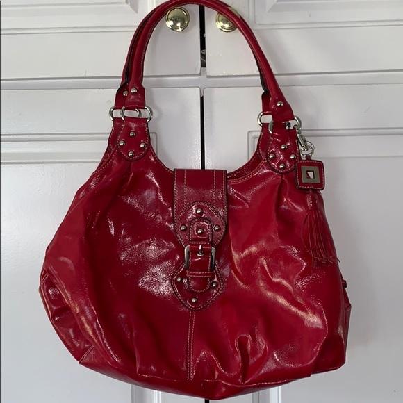 St. John's Bay Handbags - Red hobo boho satchel purse tassel